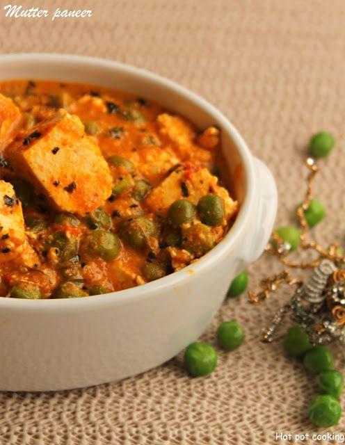 Hot Pot Cooking: Mutter panner | Panner peas masala