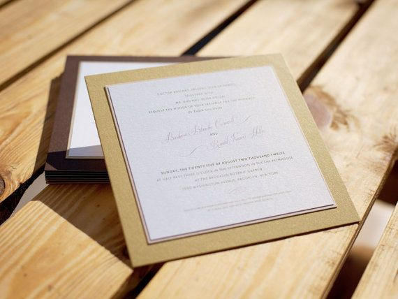Simple Design Elegant Finish Invitation in Envelope by BudapestWP, $2.95