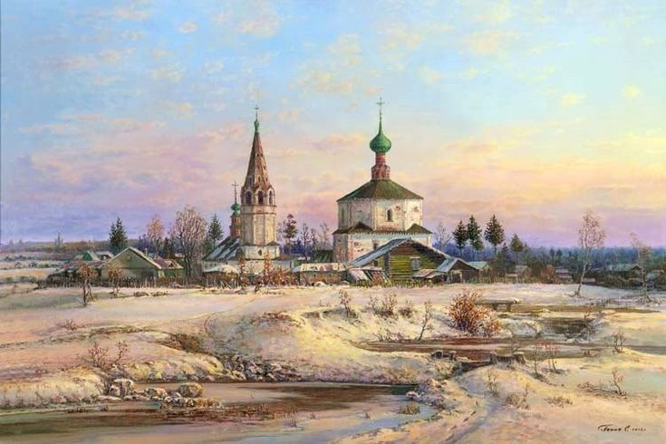 Russian expanses: Beauteous painting by the artist Sergey Panin - 37