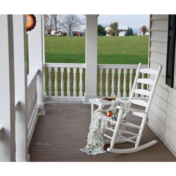 amish patio ash wood ladder back porch rocker 375 liked on polyvore featuring patio