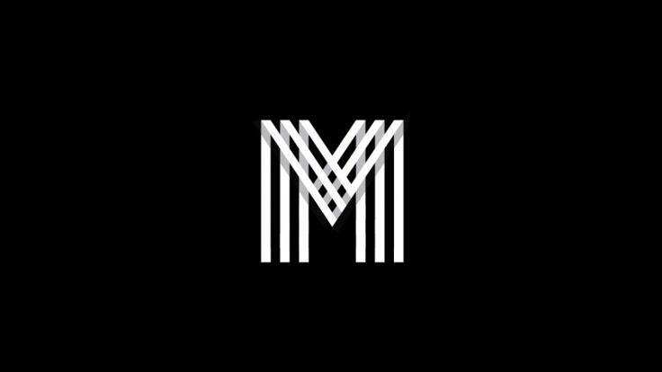 Letter M grid logo