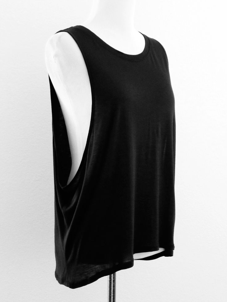 The relax fit drop armhole muscle tee. Perfect worn over a bralette.