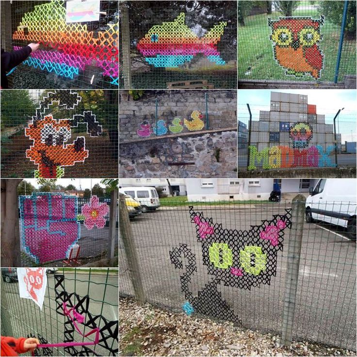 At first glance, you might think this is some kind of painting on the fences. Actually they are handmade cross-stitched murals. You might have seen cross-stitch being put into a frame and used as a wall decor, but have you ever seen these giant work of embroidery on fences? Urban X Stitch, …