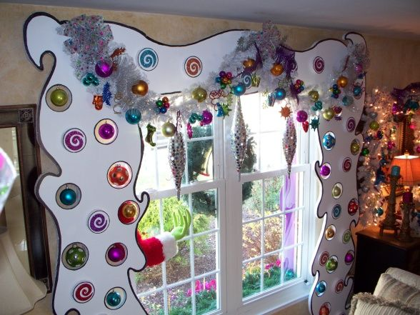 whoville curtains! I freaking love all this grinch stuff. I'm gonna have the most kidded out Christmas decorations when I live on my own