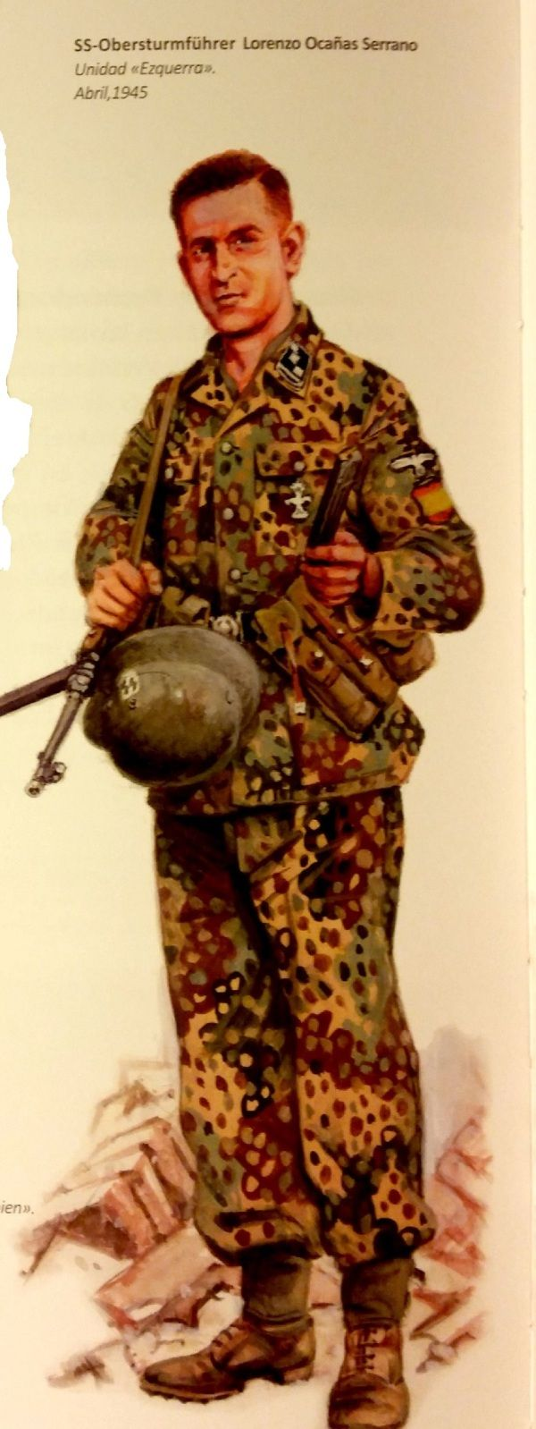 Spanish volunteer in Waffen SS, Berlin 1945, pin by Paolo Marzioli