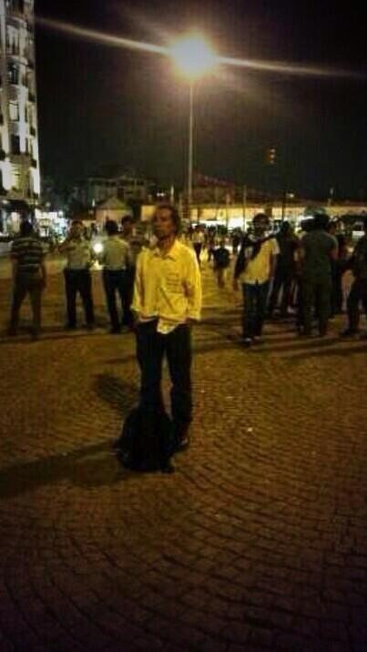 #standingman / he is only standing in taksim! gives the best example of passive resistance