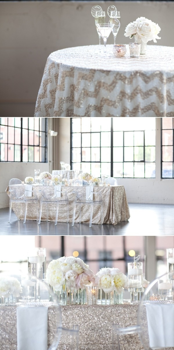 I Do Want To Incorporate Chevron, Not In The Individual Table Linens,  Perhaps On