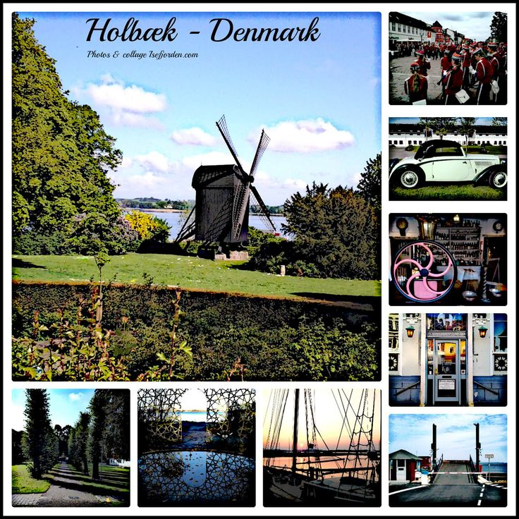 Collage with photos from Holbeak - Zealand - Denmark