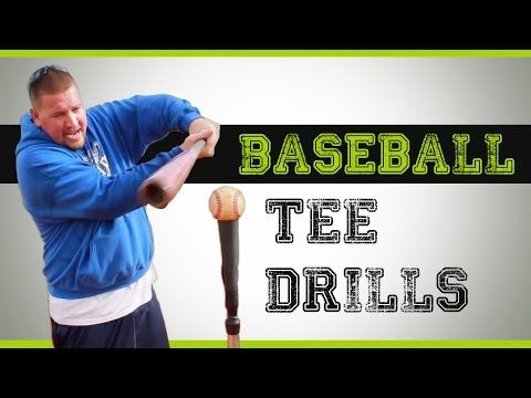 Baseball Tee Drills - Hitting Drills you can do with a batting tee - YouTube