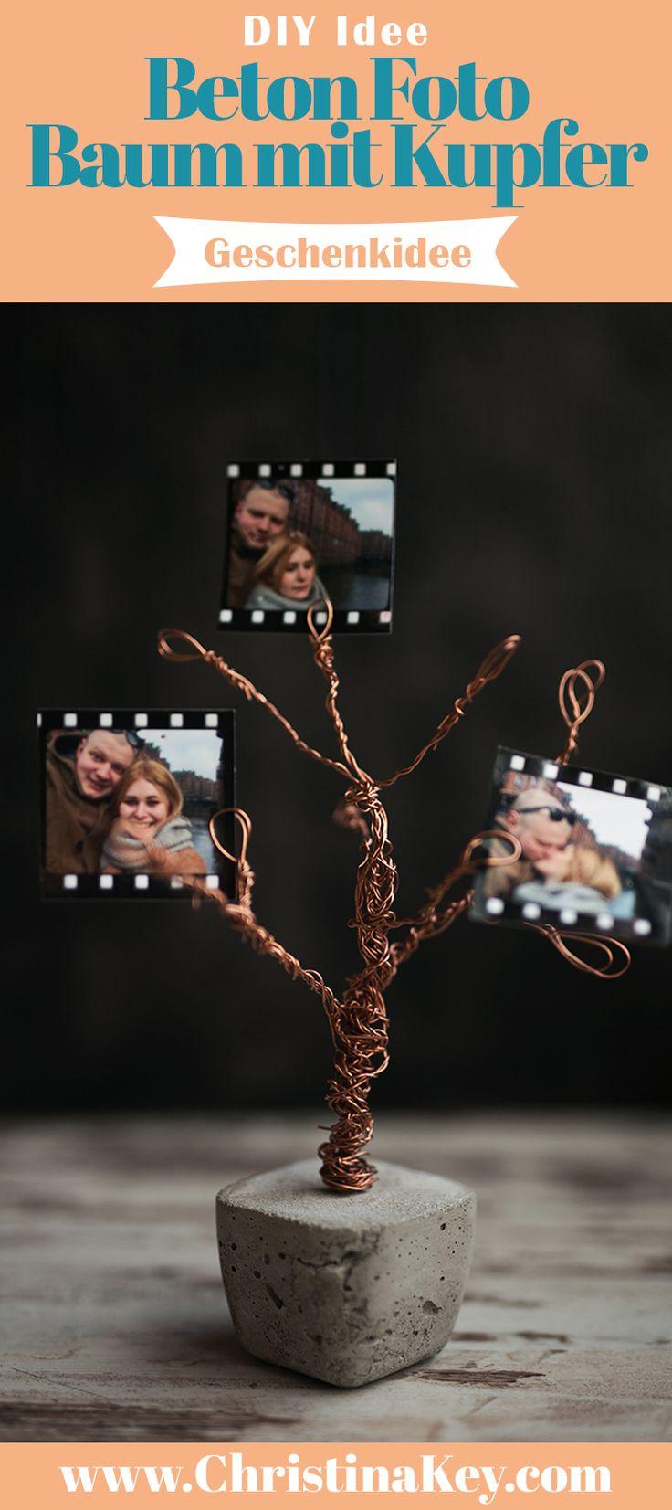 DIY Idee mit Beton - Beton Foto Baum mit Kupfer: Die ideale Geschenkidee! Die besonderes stylische Interior Beton Idee! Jetzt entdecken auf CHRISTINA KEY - dem Fotografie, Blogger Tipps, Rezepte, Mode und DIY Blog aus Berlin, Deutschland