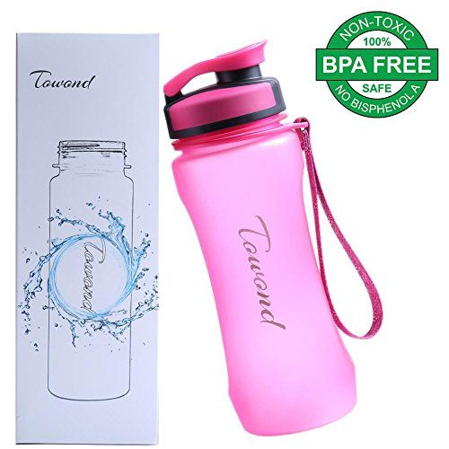 Sports BPA Free Water Bottle w Leak Proof Flip Top 20 Ounces Pink * Click on the image for additional details.