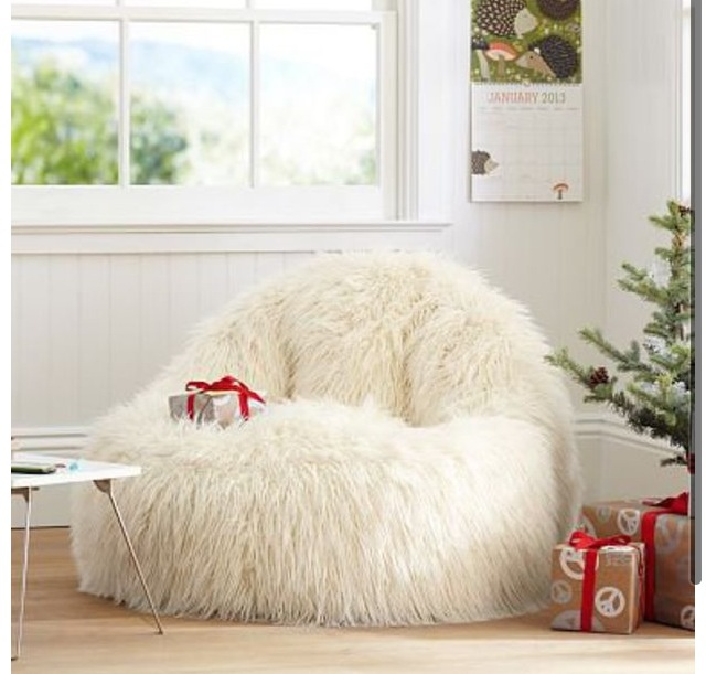 Pbteen Fuzzy Chair I Want One Of These So Bad It Looks