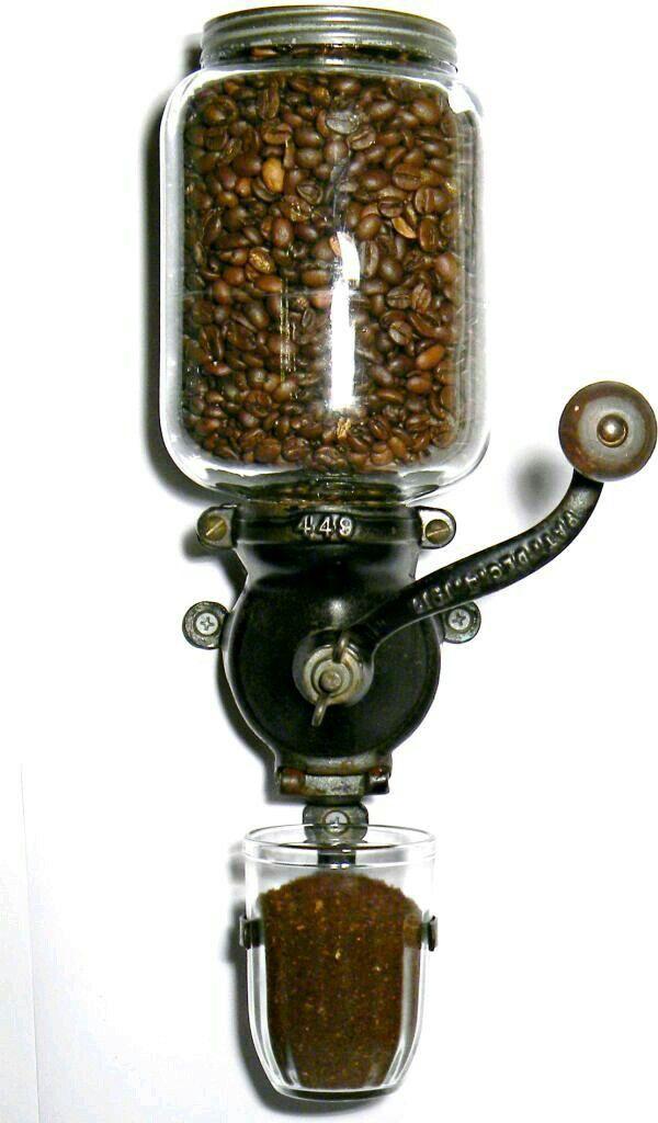 Moedor de café de parede Reservatório de vidro