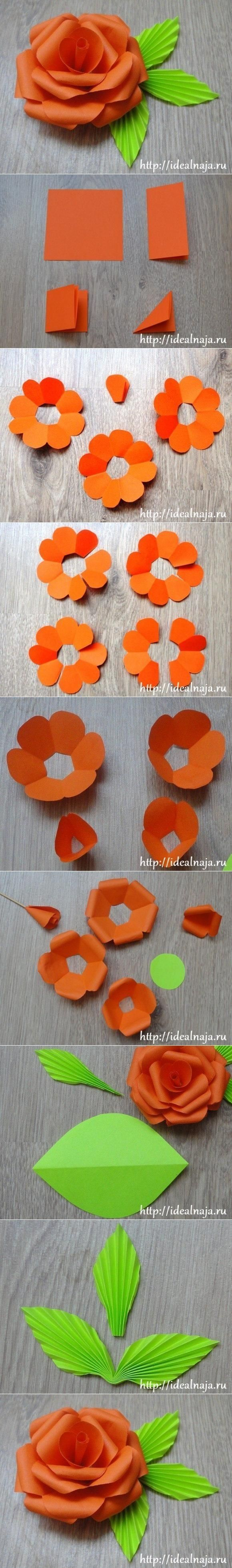 DIY 3D Flowers with really cool textured leaves