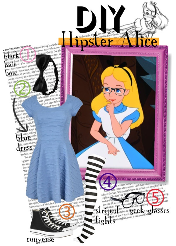 """DIY Hipster Alice"" by daydreaming-actress ❤ liked on Polyvore"