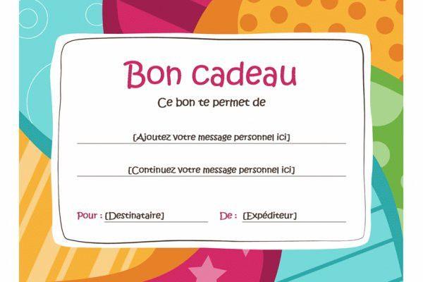 carte bon cadeau à imprimer gratuit Carte D'anniversaire Achat En Ligne Best Of Modèle Carte Cadeau à