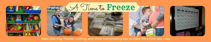 Meal Planning: A Step-by-step Guide {Step 6} - A time to freeze | A time to freeze