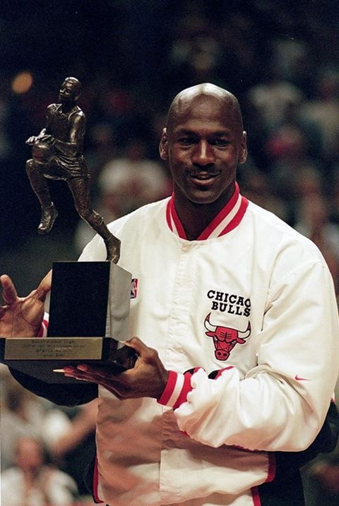 Michael Jordan Chicago Bulls NBA Most Valuable Player MVP Award