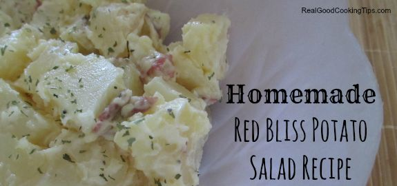 Simple Homemade Red Bliss Potato Salad Recipe | Real Good Cooking Tips
