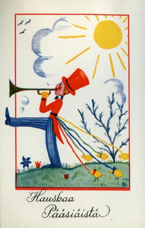 Hauskaa pääsiäistä #pääsiäinen #easter #kortit #cards #aurinko #sun #torvensoittaja