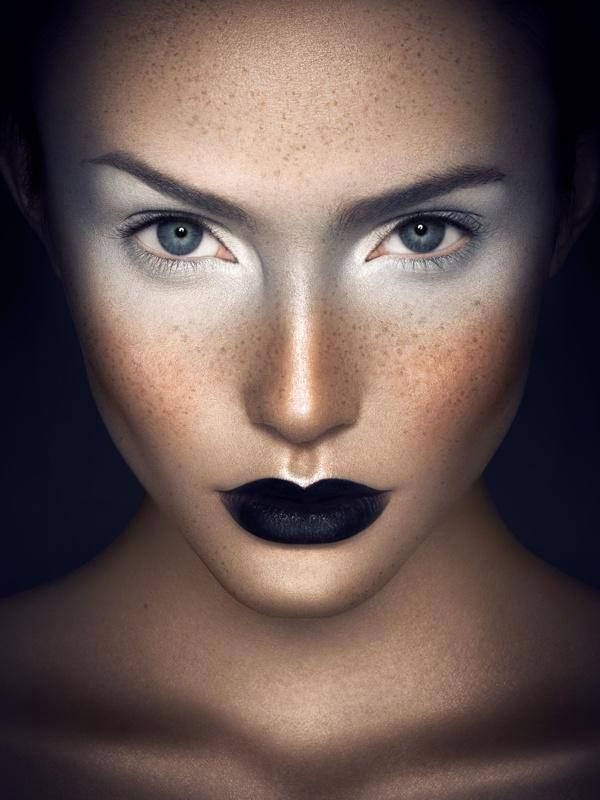 Front cover idea - close up - noticeable makeup - dark background to stand out