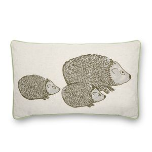 Little Hedgehogs Embroidered Cushion