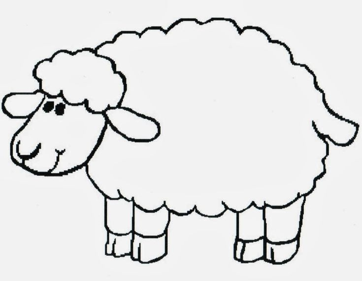 lamb print out Coloring pages