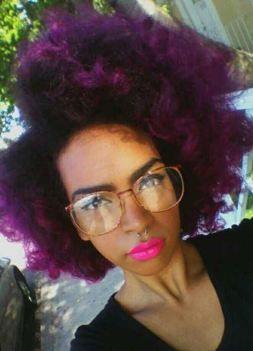Purple Natural Hair Naturals Pinterest A Well Style