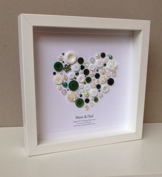 Emerald Anniversary 55th Anniversary Emerald by ButtonArtbySophie