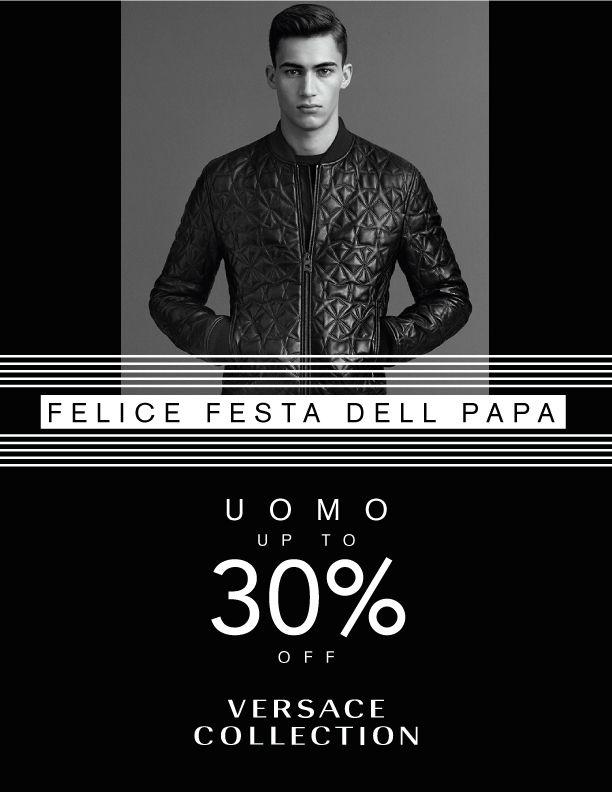 VERSACE COLLECTION: Especial Papá. Uomo up to 30% off #SantiagoElegante_Versace #SantiagoElegante #ParqueArauco  #DistritoDeLujo #ModaHombre #EspecialPapa #DiadelPadre  #FathersDays