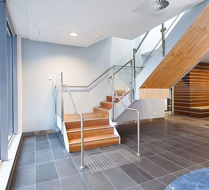 Commercial Interior painted by: CN Painters Melbourne - Melbourne CBD. Timber Staining and Varnish of Staircase & Interior paint. Visit our website: www.cnpaintersmelbourne.com.au Contact Us: 1300 447 115