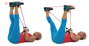 9 Best Bodyweight Exercises For Bad Knees: Resistance Band Outer Thigh Press