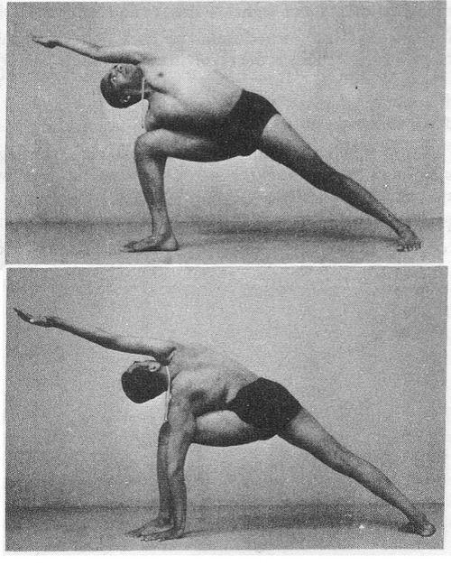 Yoga Postura Utthita Parsvakonasana - B.K.S. Iyengar