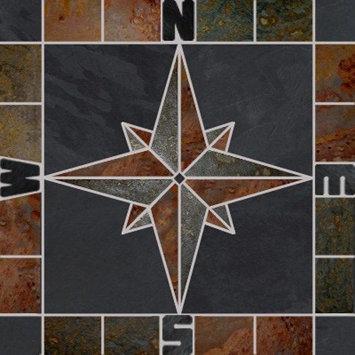 Compass Floor Tile : Best images about compass rose on pinterest
