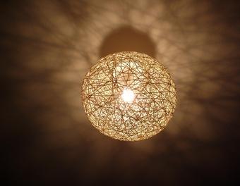 Hängende Lichtkugel Schnur,Leuchte,Luftballon,Tapetenkleister