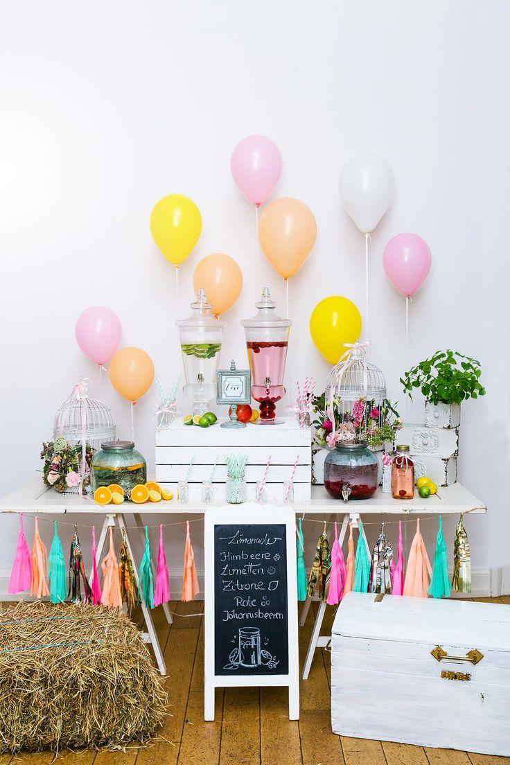 Limonadenbar I Hochzeitsdeko I Ideen & Inspiration