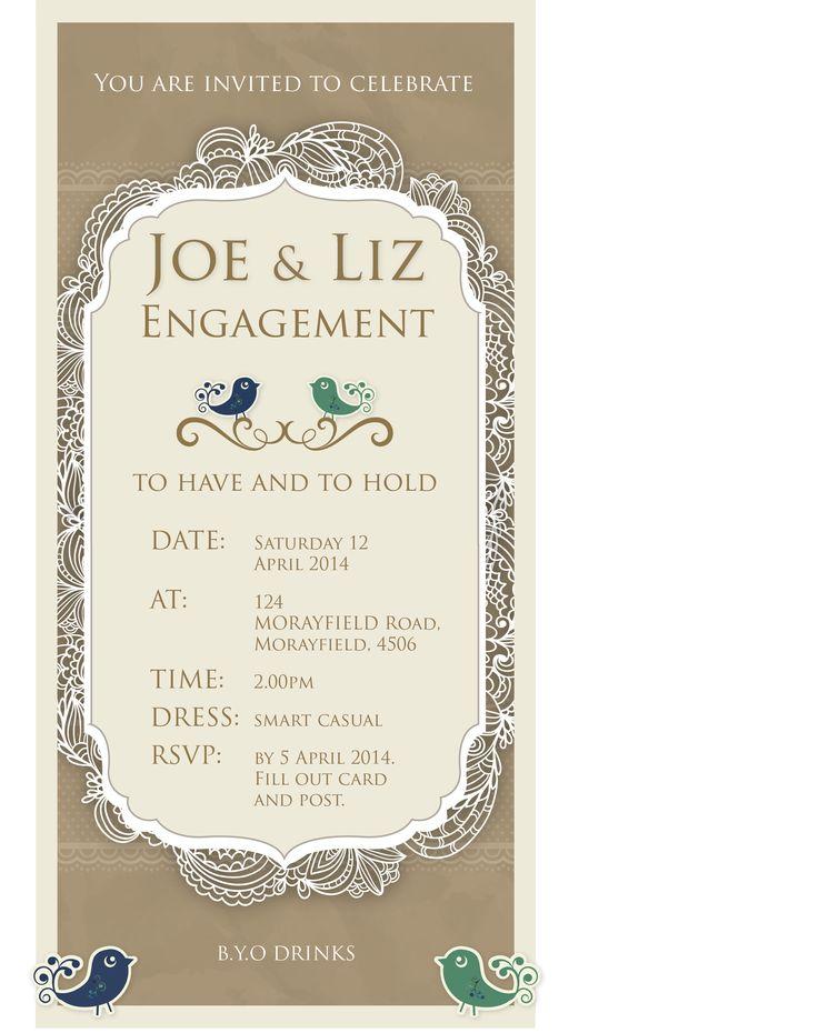 Engagement invitation designs www.wrappd.com.au