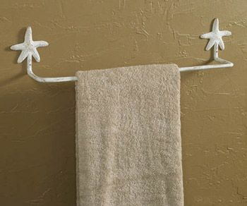 Starfish towel bar... Other matching items too. Towel ring, hook and tp holder.