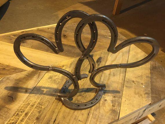 Horse Shoe Joined Hearts, Horseshoe Art, Love Iron, Horseshoe Heart
