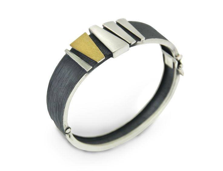 Bangle silver and gold  Audar collection Ref.20B1853 www.enrictorres.com
