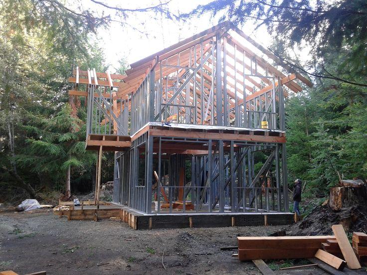 casa sistema Steel Frame Villa la Angostura patagonia (Meier & Lanz)