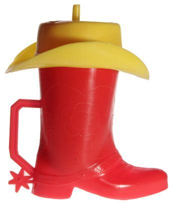 vaso bota cowboy