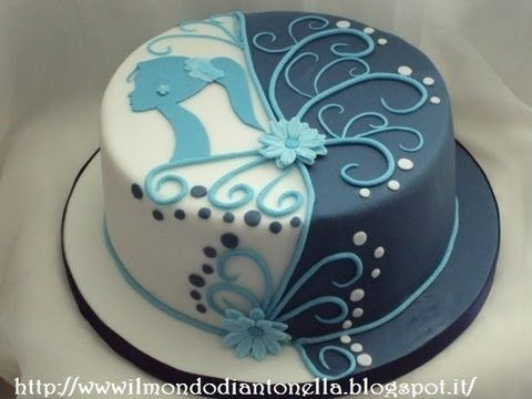 Torta di compleanno , sagoma donna ,birthday cake - YouTube