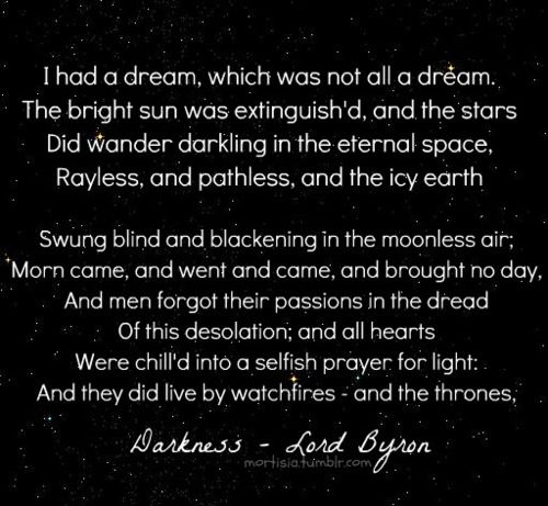 from Darkness - a poem by Lord Byron [x]