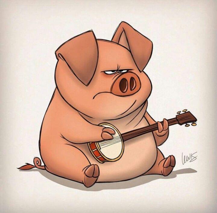 S. T. Lewis #pig #banjo