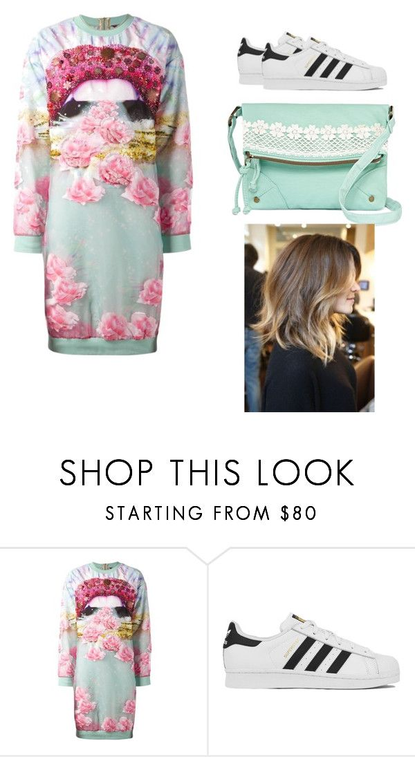 """Untitled #193"" by darcysecretsvic ❤ liked on Polyvore featuring Manish Arora, adidas, T-shirt & Jeans, women's clothing, women, female, woman, misses and juniors"