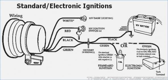 Auto Gauge Tach Wiring Diagram In 2020 Car Gauges Wire Tachometer