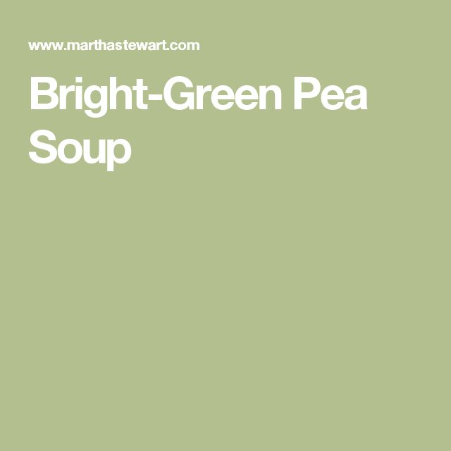 Bright-Green Pea Soup