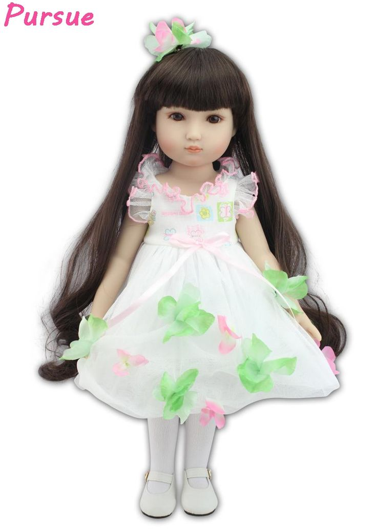 (59.10$)  Buy here - http://ain8c.worlditems.win/all/product.php?id=32793759287 - Pursue 18 inch Long Hair BJD Fantasy American Girl Doll Toys for Children bebe reborn menino bonecas reborn de silicone inteiro