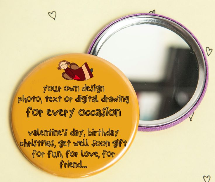 A personal favourite from my Etsy shop https://www.etsy.com/listing/266152363/handmade-pocket-mirror-ouryour-personal